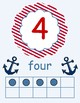 Nautical Themed Number Cards 0-10