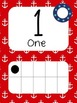 Nautical Themed Number Cards in Red and Blue