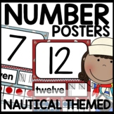 Nautical Themed Number Posters