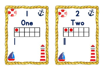Nautical Themed Numbers from 1 to 20 in Different Forms