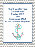 Nautical Themed Parent Thank You Sign