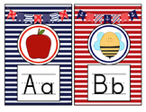 Nautical Theme Print Alphabet Mini Posters