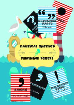 Nautical Themed Punctuation Posters