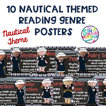 10 Nautical Themed Reading Literary Genre Posters