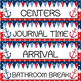 Nautical Themed Schedule Cards