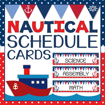 Nautical Themed Schedule Cards {Editable}
