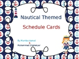 Nautical Themed Schedule Cards (Editable)