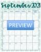 Nautical Themed School Calendar / Planner