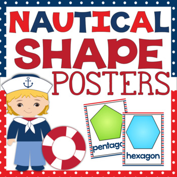 Nautical Themed Shape Posters