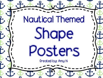 Shape Posters (Blue and Green Nautical)