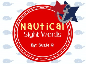 Nautical Themed Sight Word Cards-220 Dolch