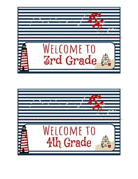 Nautical Themed Snack Bag Labels