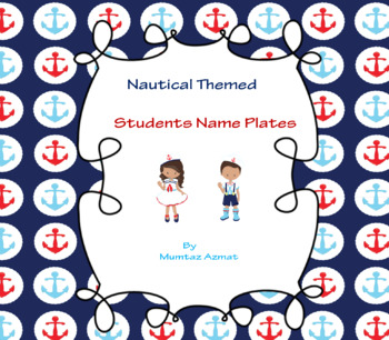 Nautical Themed Student Name Plates *Editable*