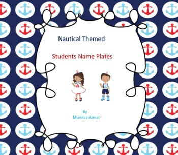Nautical Themed Student Name Plates