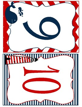 Nautical Themed Table Numbers