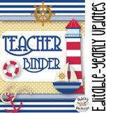 Nautical Themed Teacher Binder & Planner Pack {Editable!}