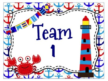 *Nautical* Themed Team Posters {Editable}