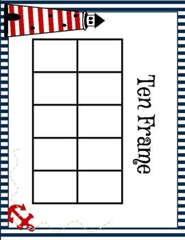 Nautical Themed Ten Frames