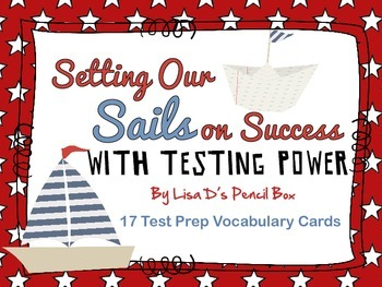 Nautical Themed Testing Power Vocabulary Cards
