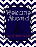 Nautical Themed Welcome Aboard Poster