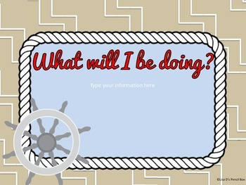 Nautical Themed Welcome Back PowerPoint EDITABLE