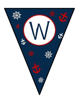 Nautical Themed Welcome Banner