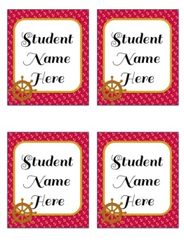 Nautical Themed Welcome Banner & Student Name Cards {Editable!}
