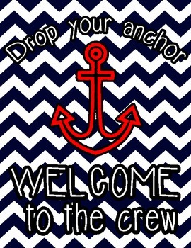 Nautical Themed Welcome to the Crew Poster