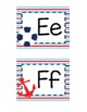 Nautical Themed Word Wall Alphabet :
