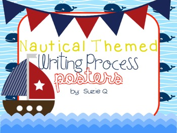Nautical Themed Writing Process Posters