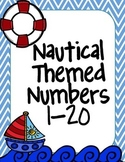 Nautical Themed Number Posters 1-20