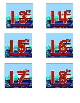 Nautical Tugboat Number Labels