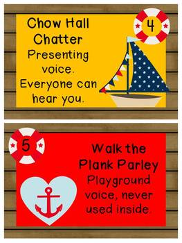 Nautical Voice Level posters