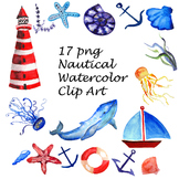 Nautical Watercolor Clip Art