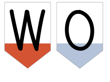 Nautical Watercolor Word Wall Labels