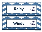 Nautical Weather Cards