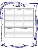 Nautical Weekly Calendar