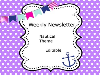 Nautical Weekly Newsletters - Editable