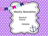 Nautical Weekly Newsletters - Editable