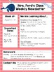 Nautical Weekly or Monthly Newsletter Templates EDITABLE