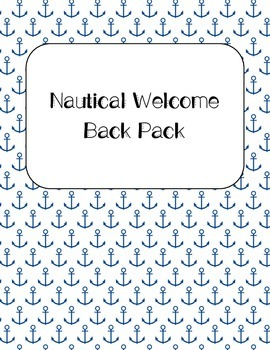 Nautical Welcome Back to School Pack