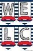 Nautical Welcome Banner Pennants