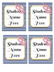 Nautical Welcome (Bienvenue) Banner & Editable Student Nam