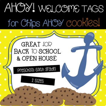 Nautical Welcome Tags for Cookies