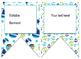 Nautical/Whales (Green,White,Blue) themed EDITABLE bulleti