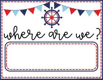 Nautical Where Are We? Chart