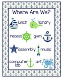"Nautical ""Where Are We?"" Sign"