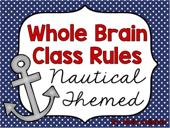 Nautical Whole Brain Teaching Class Rules