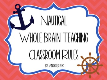 Nautical Whole Brain Teaching Classroom Rules
