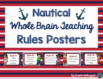 Nautical Whole Brain Teaching Rules Posters